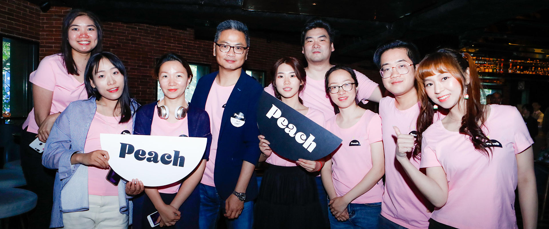 At the Peach party in Shanghai